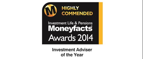 Moneyfacts awards 2014 - Investment Adviser of the Year